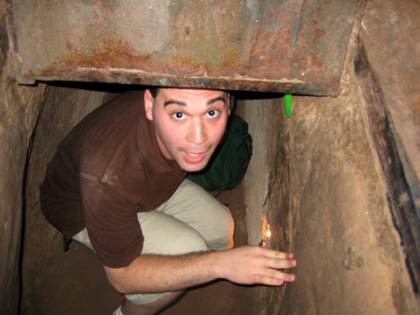 Dave Inside Cu Chi Tunnel