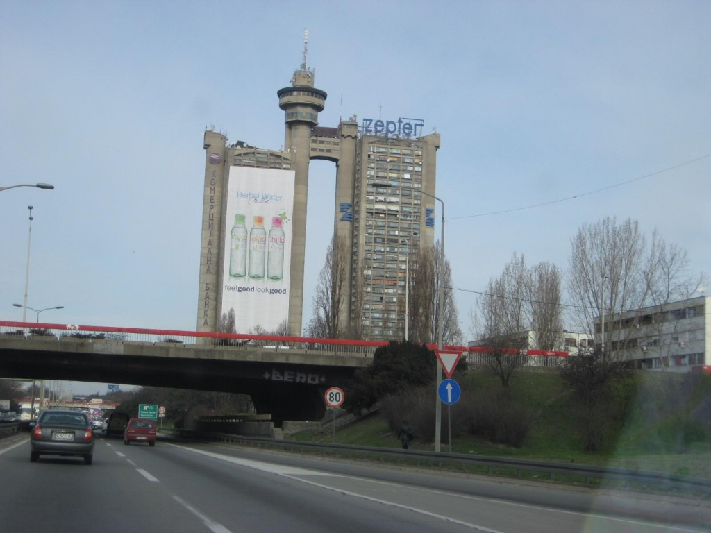 Building on highway A1 Belgrade, Serbia