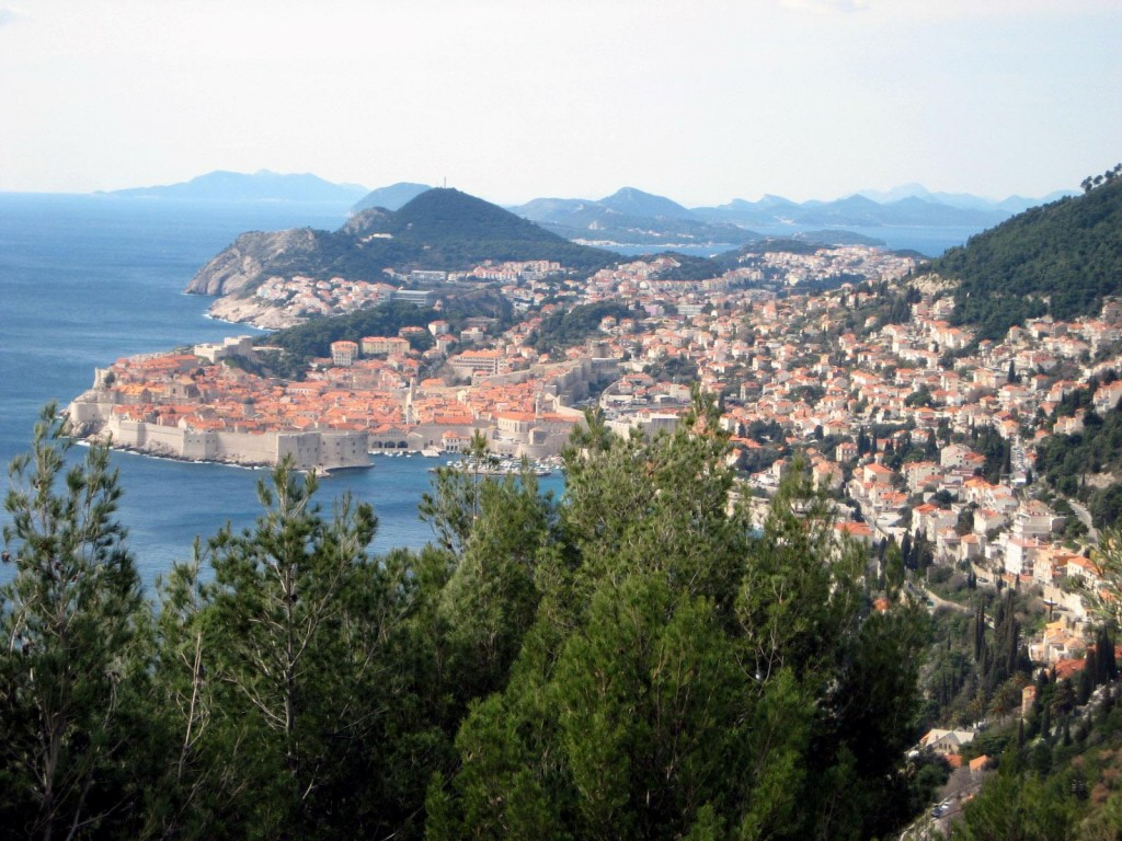 View of Dubrovnik, Croatia from road