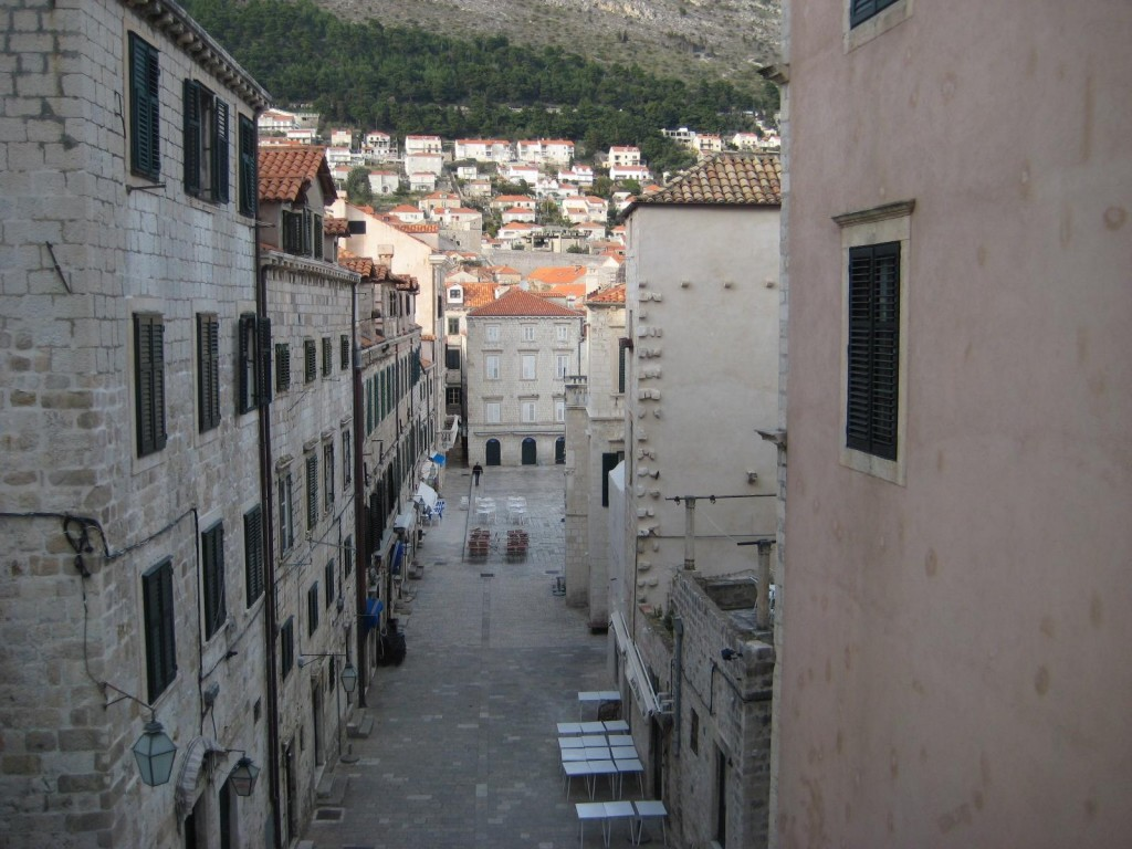 View of Old City in Dubrovnik, Croatia