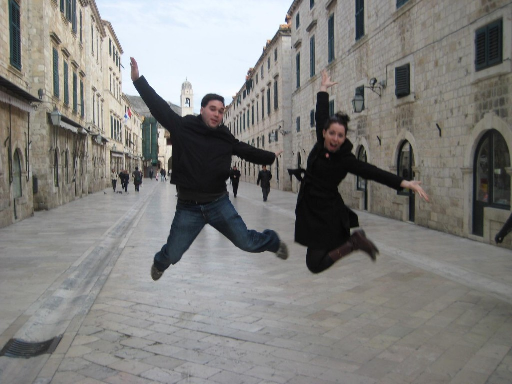 Jumping in Dubrovnik, Croatia