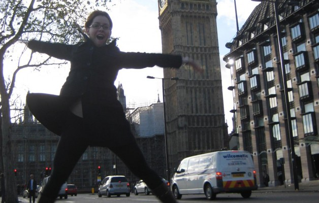 Jumping in front of big ben London