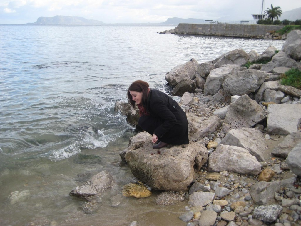 Water sample of Mediterranean in Palermo, Sicily Italy