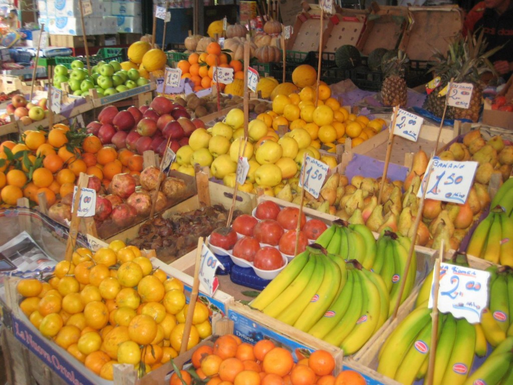 Fruit Market in Palermo, Sicily, Italy