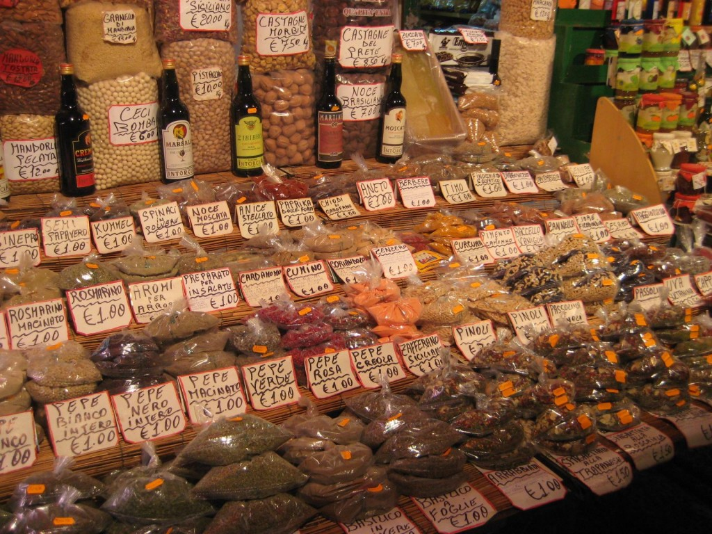 Spice Market in Palermo, Sicily Italy
