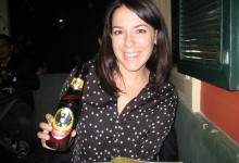 Drinking Imperial Beer in San Jose Costa Rica