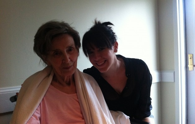 Chandra with grandmother