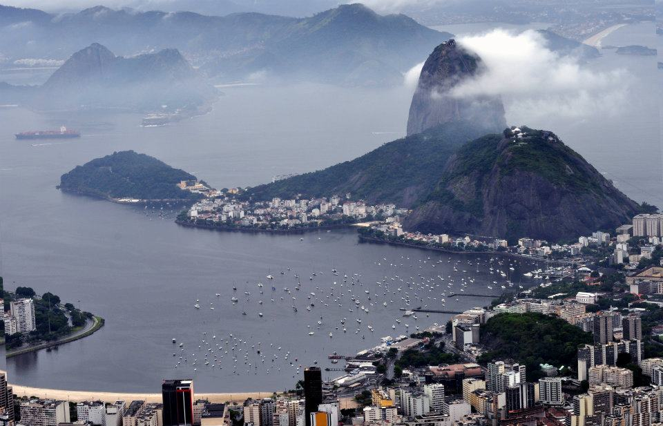 View of Rio from Corcovado Christ the Redeemer