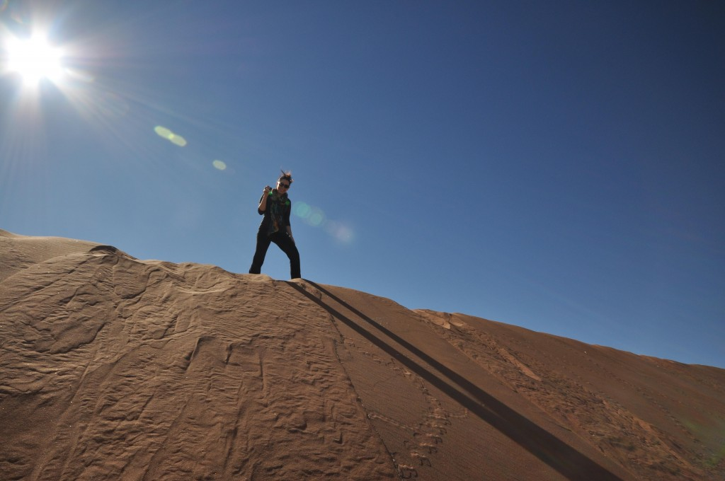 View from top of Sossusvlei Dune Namibia