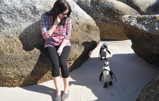 Chandra with African Penguins Boulders South Africa