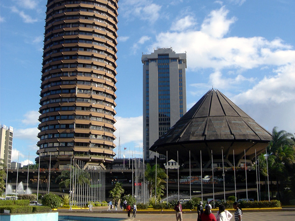 The Nairobi Convention Center in Downtown Nairobi Kenya.  More modern then you expected Nairobi to be?