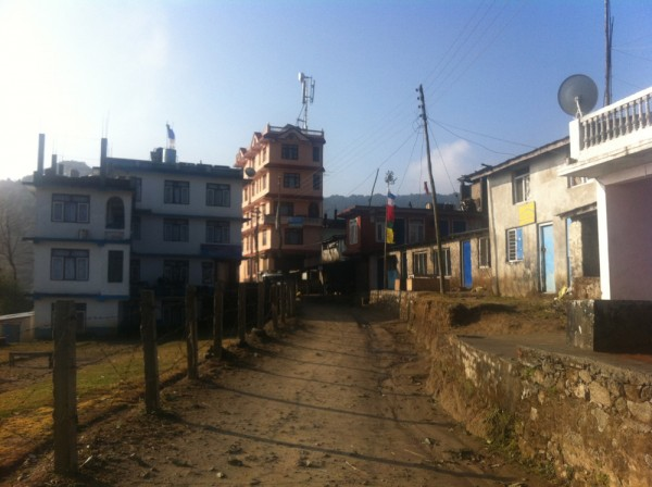 The town of Chisapani, Nepal