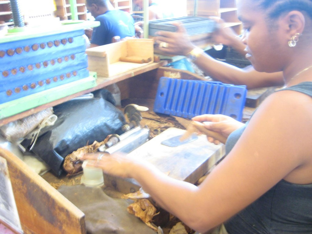 All Cuban cigars are made by hand in factories that don't even need electricity to operate.  Making Cuban cigars is an art.  They are perfectly wrapped - not like those Dominican cigars - they're too tight!
