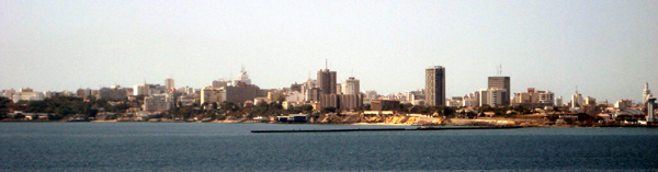 The skyline of Dakar Senegal