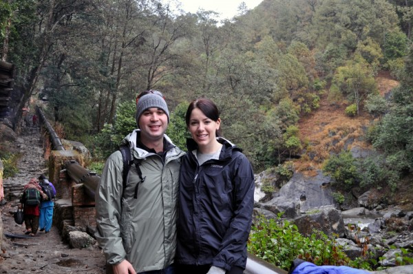 Dave & Chandra in Sundarijal at the beginning of the trek.  If only we knew what we were getting into...