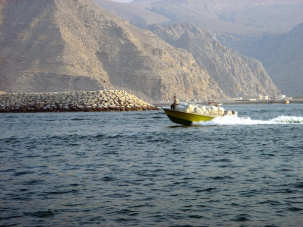 Smugglers heading from Oman across to Iran in the Persian Gulf
