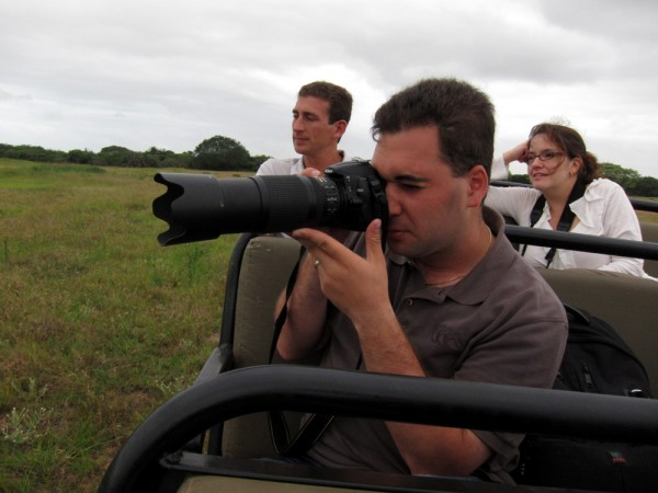 Dave snapping some photos while out on safari at &Beyond Phinda Private Game Reserve in KwaZulu-Natal South Africa