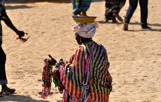 Woman Selling Necklaces on Goree Island