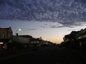The sky over the town of Broken Hill