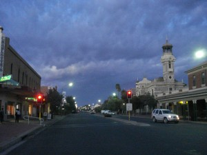 Dawn in the town of Broken Hill