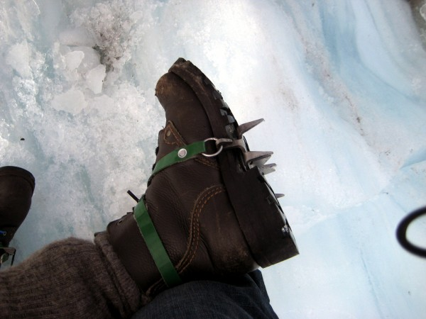 Good luck walking on a glacier without using these.  Crampons make it possible to walk more then two steps without a face full of ice.