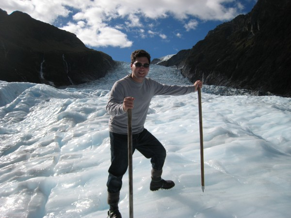 Dave has conquered Fox Glacier!  A helihike gets you to the most unbelievable places.