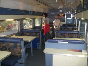 "Dining car aboard the Indian Pacific ""Red"" class"