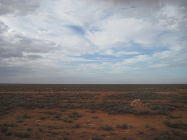 The endless Australian desert stretches on forever