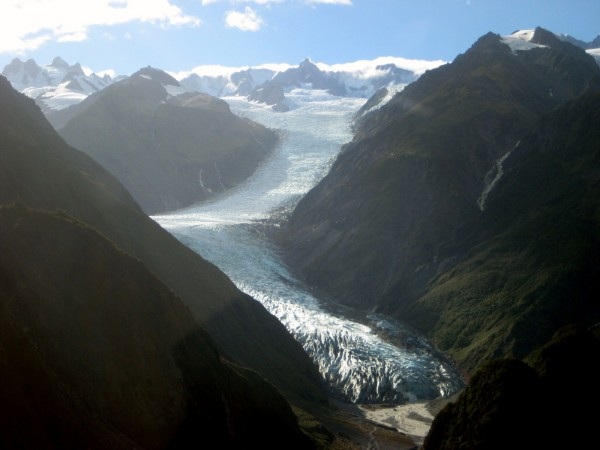 You can only begin to understand the scope and size of the glacier from the air.