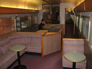 "Lounge car aboard the Indian Pacific ""Red"" class"