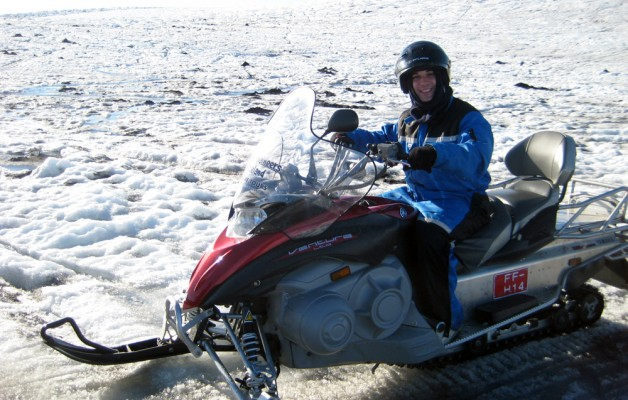 What's cooler then riding a snowmobile?  Riding one on a glacier in Iceland!