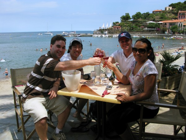 The only thing better then food, wine and the sea is sharing it all with good friends in Collioure