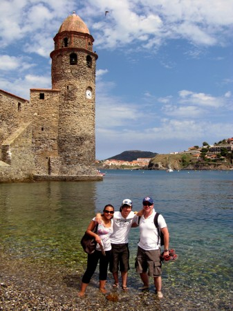 The waters in Collioure are crystal clear and shallow enough that you can walk around the castle itself without getting too deep