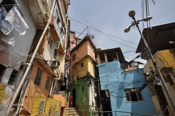 Favelas are not planned communities, they often times grew in a very haphazard and unplanned way
