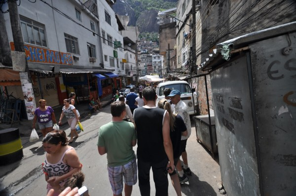The streets of Rocinha favela