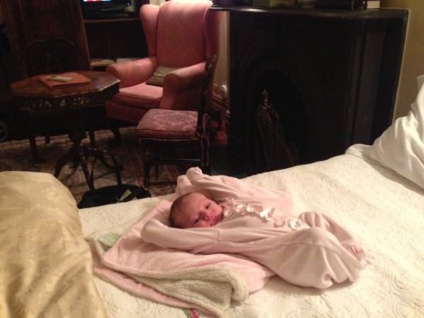 Baby on Bed Inn at Irving Place