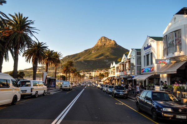 Beautiful Cape Town from Camps Bay with Lions Head mountain in the background