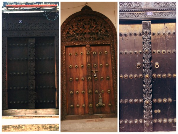 Zanzibar is known for its ornate doors representing design elements from Arab, Persian, Asian and European influences