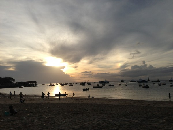 Dusk over Stone Town Bay