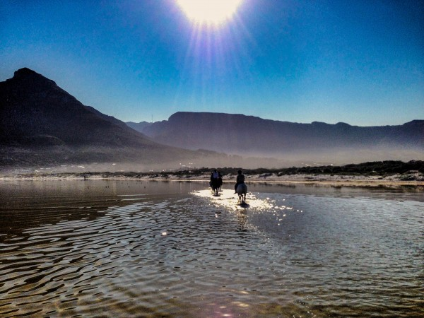 The morning mist creates a magical atmosphere on Noordhoek beach