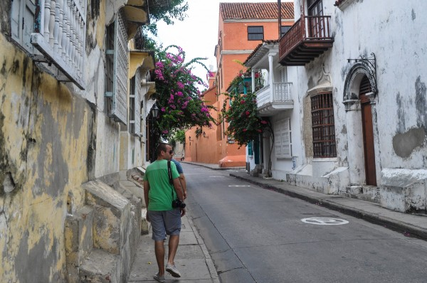 The mean streets of Cartagena.