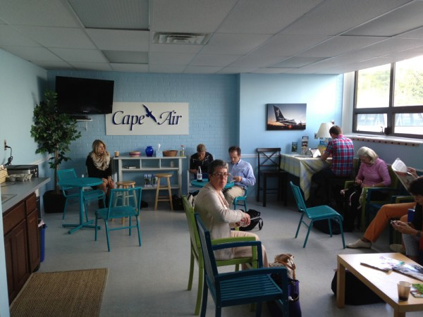 If you arrive WAY too early for your flight like we did, you can relax in the Cape Air Lounge
