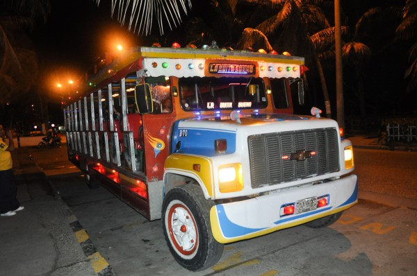 The Chiva bus - a rolling fiesta on the streets of Cartagena