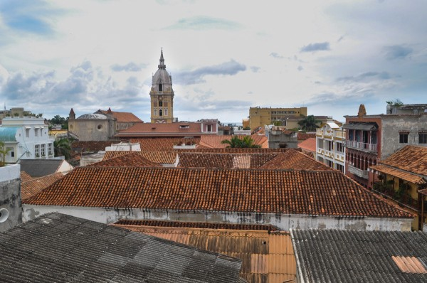 The rooftops of Cartagena's Old City offer a beautiful indication of the wonderful city below