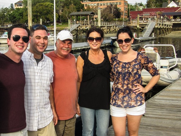 The five of us back on Long Island after a successful day of 'Urban Boating'