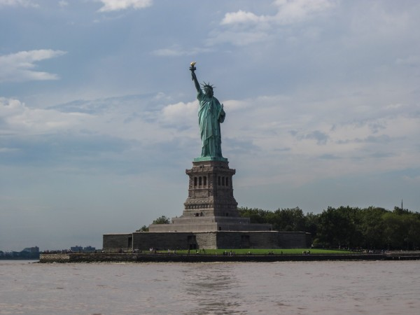 Lady Liberty - the perfect place for some lunch!