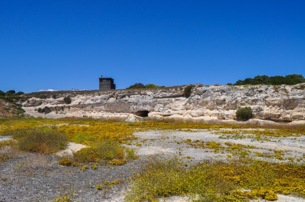 The lime quarry of Robben Island where Nelson Mandela and fellow prisoners toiled away for years
