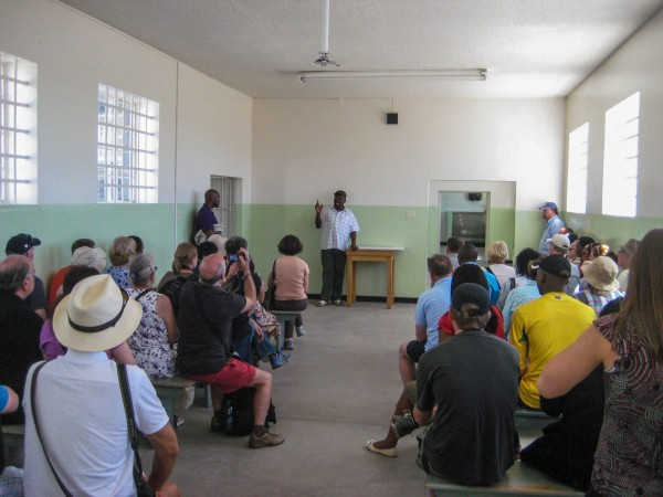 Learning about life on Robben Island from one of its former political-prisoners
