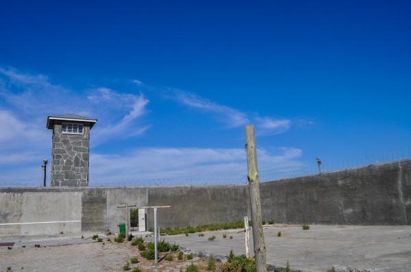 The endless African sky above Robben Island prison