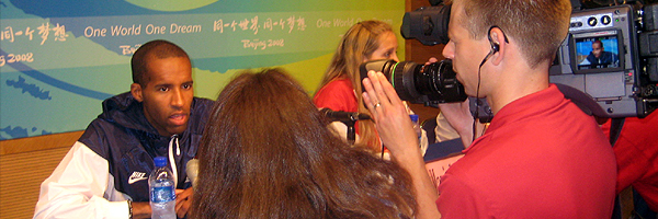 Media Interviews at Beijing 2008 Olympics